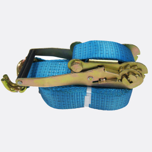 50mm 5T Cargo Lashing Ratchet Strap Double J hook Blue